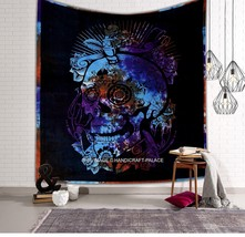 Skull Tapestries Grateful dead psychedelic Tapestry Wall hanging Indian ... - $363,61 MXN