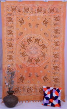 Indian Elephant Mandala Hippie Twin Tapestry Wall Hanging Bedspread Tabl... - $321,01 MXN