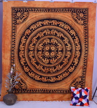 Indian Elephant Mandala Psychedelic Tapestry Throw Wall hanging Bedsprea... - £15.41 GBP