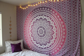 Queen Ombre Indian Mandala Tapestry Wall Hanging Bedding Bedspread Blank... - $382,47 MXN