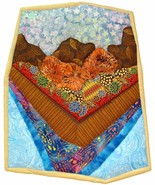 On the Boardwalk: Quilted Art Wall Hanging - $455.00