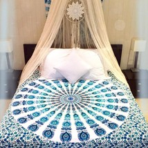 5 PC LOT Twin Indian Cotton Mandala Hippie Tapestry Wall Hanging Bedspre... - $55.17