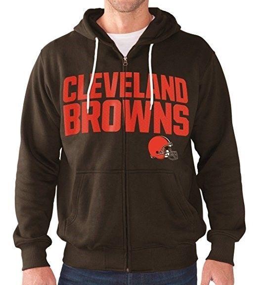 Medium Cleveland Browns Hoodie Men's NFL Swingman Full Zip Sweatshirt NEW