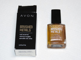 Avon Brushed Metals Nail Enamel Brnshd Copper 12 ml 0.4 fl oz polish mani pedi;; - $19.78