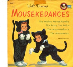 Children Vintage  Walt Disney's Mousekedances- A Mickey Mouse Club Record - $3.10