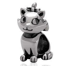 Queen Cat Charms 925 Sterling Silver Animal Cha... - $13.37