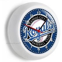 Kansas City Royals Baseball Team Wall Clock Man Cave Living Tv Room Garage Decor - $21.05