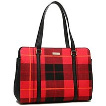 Kate Spade WKRU4005 616 Miles Newbury Lane Plaid Tote Bag - $225.99
