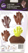 Wilton Candy Mold Zombie Ghost Creature Grave Hand makes 6 Halloween Day... - ₨464.31 INR