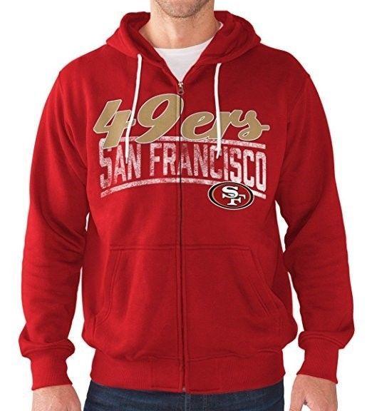 San Francisco 49ers Hoodie Men's NFL Swingman Full Zip Sweatshirt Football NEW