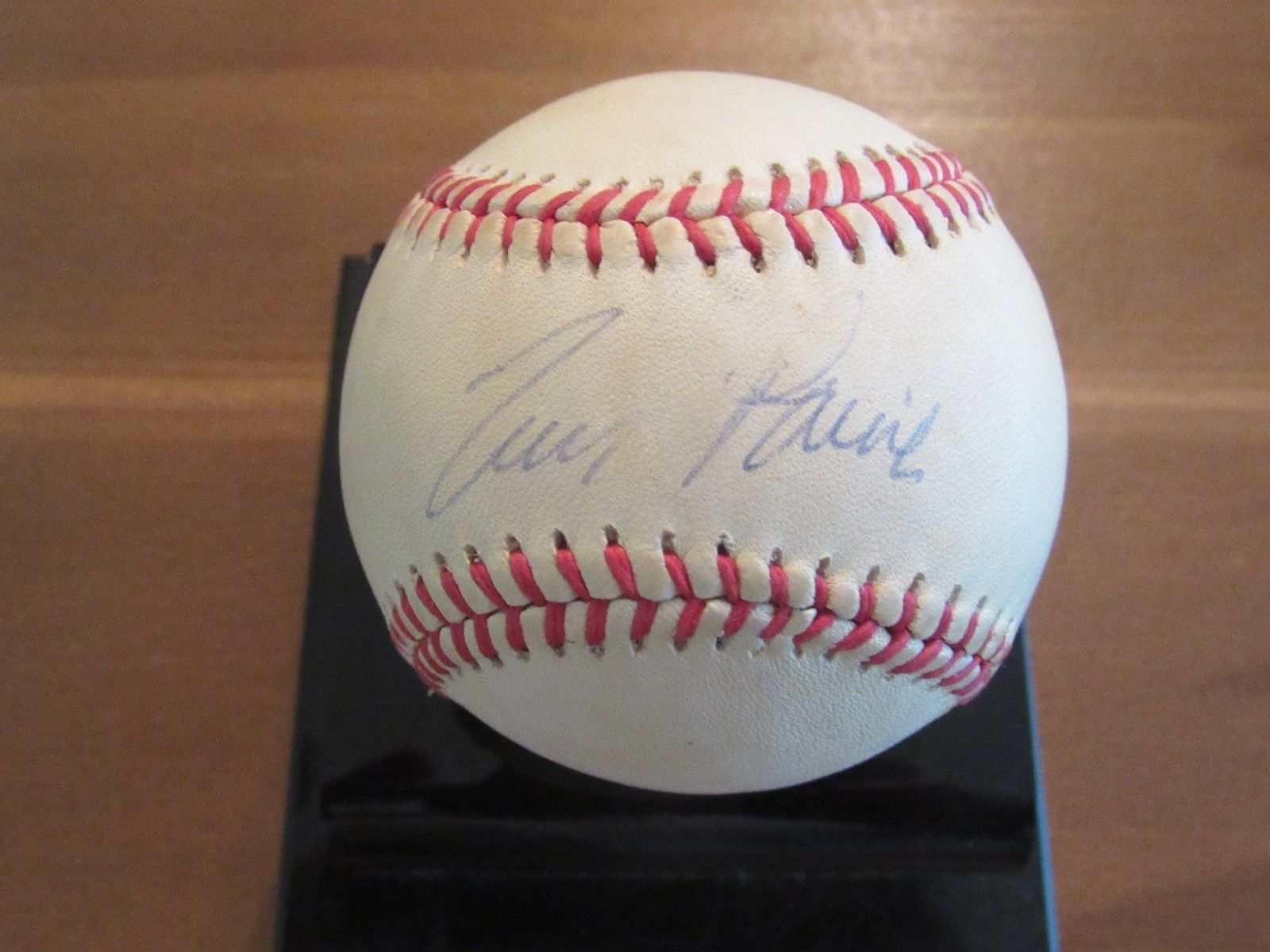 Primary image for TIM RAINES HOF EXPOS WHITE SOX WSC YANKEES SIGNED AUTO VINTAGE GU BASEBALL JSA