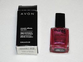 Avon Mosaic Effects Top Coat Fiery Fuchsia 12 ml 0.4 fl oz polish mani pedi;; - $12.86