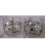 Mid Century Roly Poly Tumblers Rocks Glasses PA... - $22.98