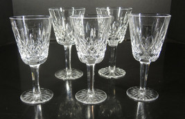 Waterford Lismore Pattern - 3 White Wine & 2 Claret Stems - $71.24