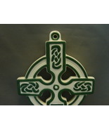 LEFTON Trademark Exclusives Green Ivory CELTIC CROSS WALL CRUCIFIX - $27.99