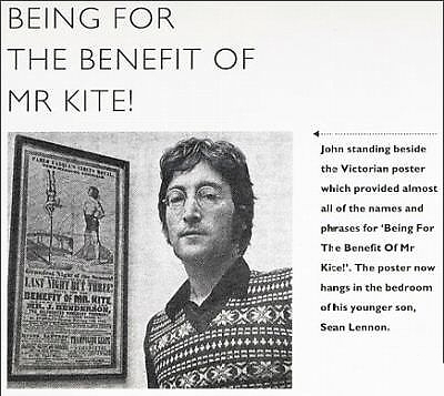 Being For The Benefit of Mr. Kite Poster 11x17 Beatles Sgt. Pepper's John Lennon image 4