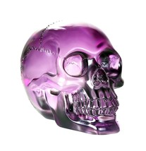 Crystal Clear Translucent Skull Collectible Figurine 4.5 Inch (Purple) - $34.64
