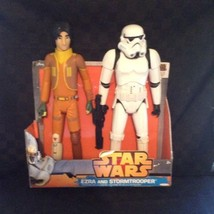 "NIB Jakks Pacific 18"" Ezra & Storm Trooper Star Wars Action Figure Toy P... - $18.69"