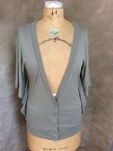 SPLENDID PUTTY Taupe Slinky PIMA MODAL Knit Top S Small Flutter Sleeve C... - $43.47