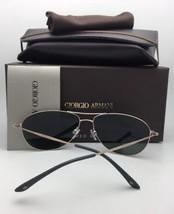 Polarized GIORGIO ARMANI Sunglasses AR 6024 3003/57 Gunmetal Aviator w/ ... - $249.95