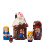 """Hansel and Gretel House Nesting Doll - 5"""" w/ 5 Pieces - $56.00"""