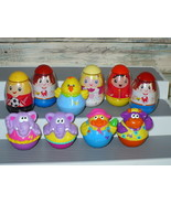 Hasbro Playskool Weebles Wobble People 10 piece Lot  - $19.98