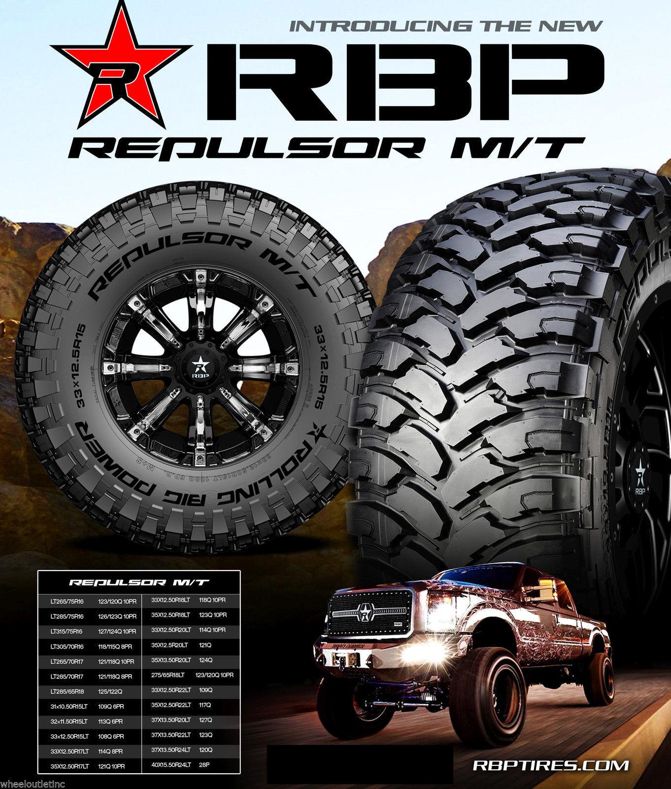 4 New LT 35x12 50R18 RBP Repulsor MT Tires and 50 similar items