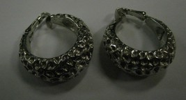 Trifari clip earrings silver color - $5.93