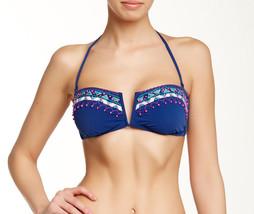 NEW Nanette Lepore Costa Sol V-Bandeau Bikini Swimwear Top S Small - $31.67