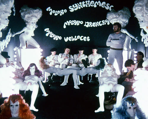 A clockwork orange milk bar poster