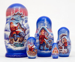 "Emelya and the Magic Pike Nesting Doll - 6"" w/ 5 Pieces - $44.00"