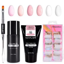Gel UV Nail Hard Builder Quik Venalisa Nail Art Extention Finger Gum Jell Poly - $4.41+