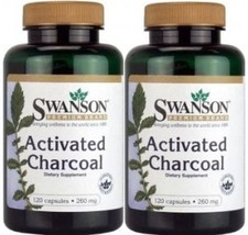 240 CAPSULES Swanson Activated Charcoal 260 mg ... - $15.26