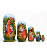 "Alyonushka and Ivanushka Nesting Doll - 5"" w/ 5 Pieces - $44.00"