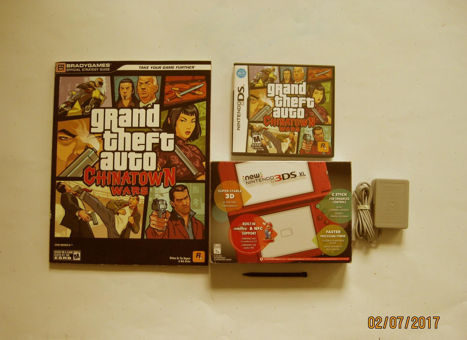 Primary image for Red Nintendo New 3ds xl   w Chinatown Wars & More!!!