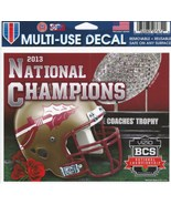 "NCAA Florida State Seminoles Wincraft Multi-Use Ultra Decal Cling ""5x6""  - $6.95"