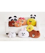 LINE Friends Soft Cushion Face Plush Pillow Doll Character Bedding Acc *... - $44.79+