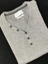 Jack & Jones XL Men Gray Premium Long Sleeve Button Jumper Sweater Shirt - $22.24