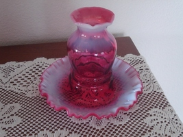 Fenton Cranberry Opalescent 1 Piece Fairy Light Vintage - $79.99