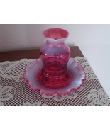 Fenton Cranberry Opalescent 1 Piece Fairy Light  - $74.99