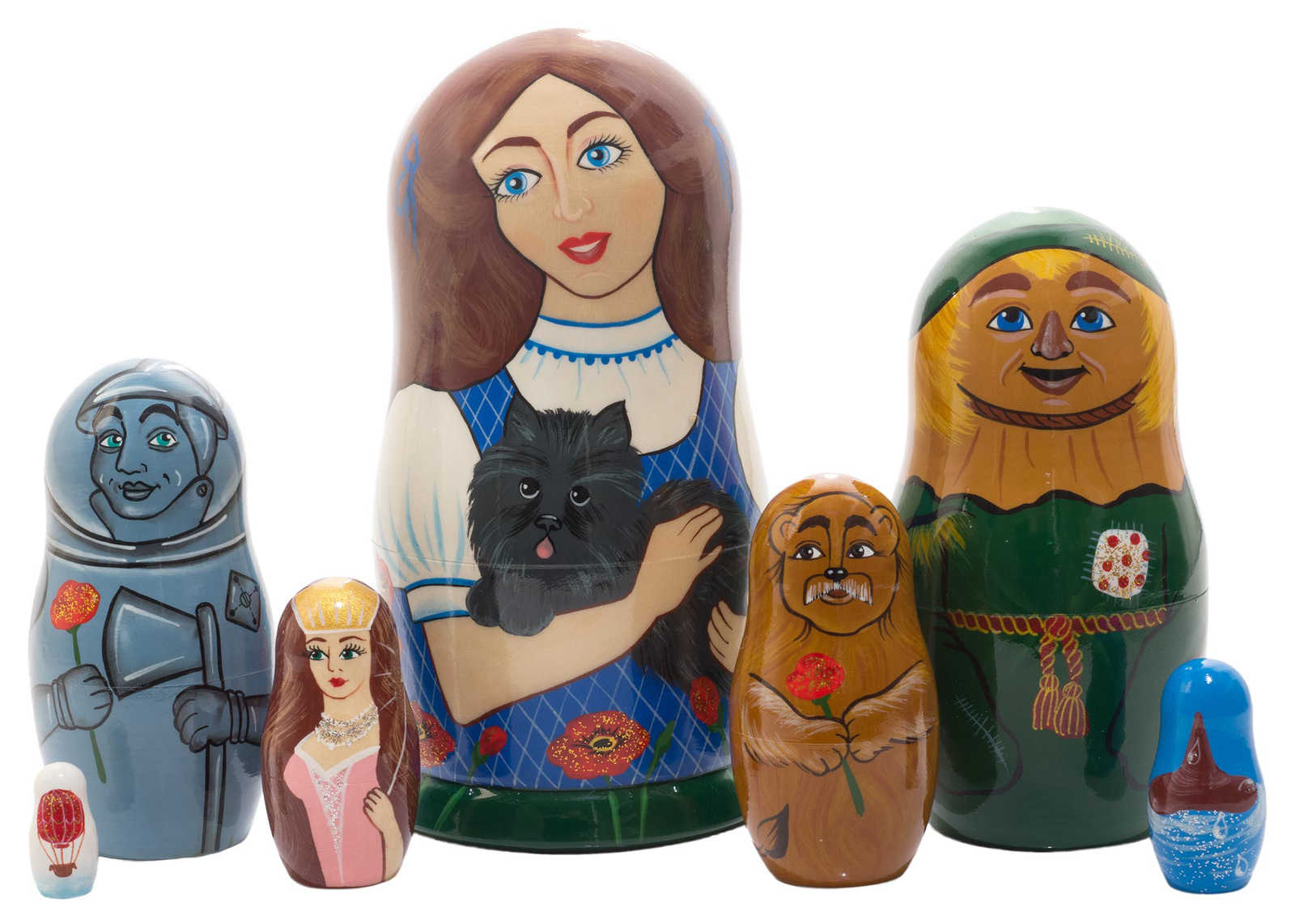 "Wizard of Oz Nesting Doll - 6"" w/ 7 Pieces"