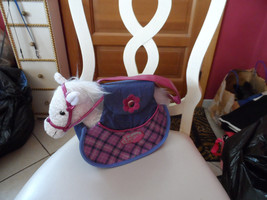 Girls pink and blue handbag ,pet carrier w/ whi... - $11.00
