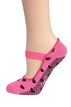 DG Sports Women's Yoga Socks Pink Small/Medium - $17.25