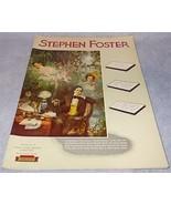 Stephan Foster Memorial Commission Souvenir Son... - $9.95