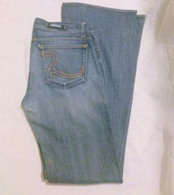 Women's Low Rise ROCK & REPUBLIC Boot Cut Jeans Sz 30  - $10.00