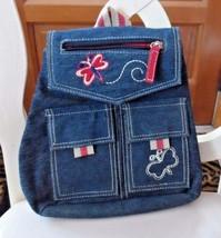Girls blue denim backpack purse by Ever Girl - $12.00