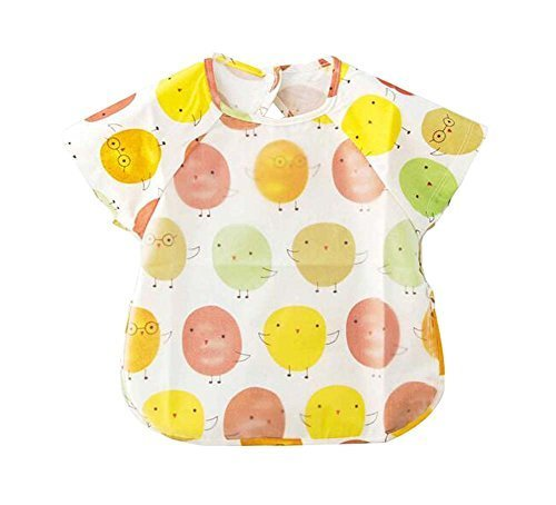 Simple Convenient Baby Waterproof Feeding Bib, 90-100cm Height, Oranges