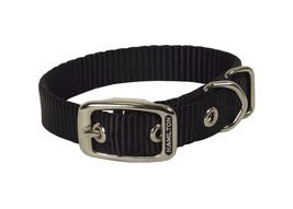 "Hamilton 1-Inch Single Thick Nylon Deluxe Dog Collar Black 1"" x 2"" - $34.54"
