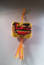 Frito Pollito Needlepoint Pincushion Ornament - $10.75