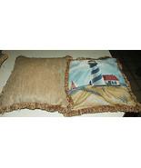 Pair of Lighthouse Decorative Print Throw Pillows  18 x 18 - $59.95